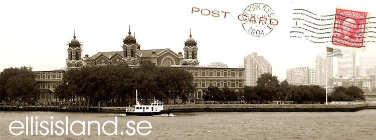 Ellis Island Immigrationsstation utanför New York (Manhattan)